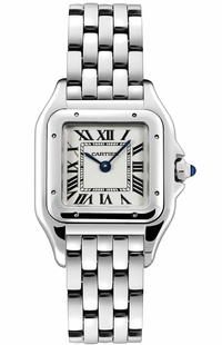 Cartier Panthere De Cartier Silver Dial Women's Luxury Watch WSPN0007