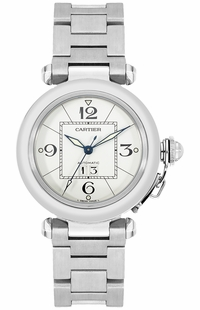 Cartier Pasha C White Dial 35mm Midsize Watch W31055M7