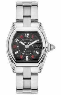Cartier Roadster Black Dial Stainless Steel Men's Watch W62002V3