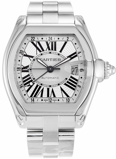 Cartier Roadster XL GMT Men's Watch W62032X6