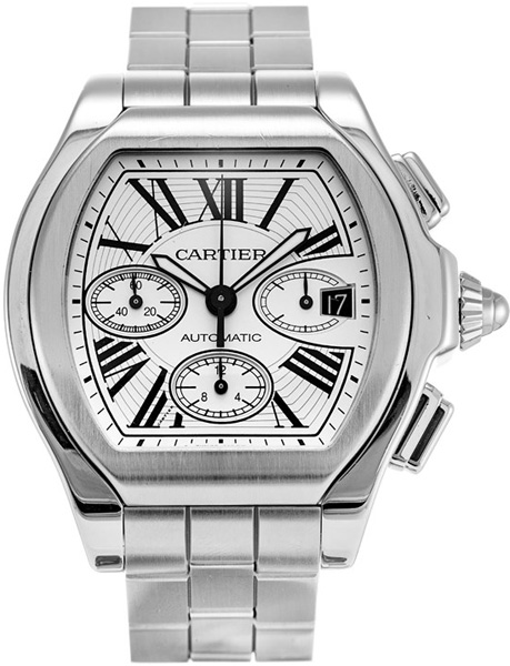 W6206019 Cartier Mens Roadster Silver Dial Stainless Steel Case and ... 6c6f6520b5