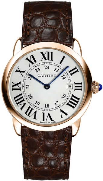 Cartier Ronde Solo Solid 18k Rose Gold Men's Watch W6701008