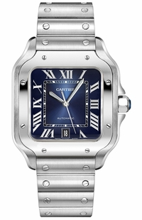 Cartier Santos De Cartier Blue Dial Men's Watch WSSA0013