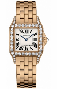 Cartier Santos Demoiselle 18k Rose Gold Women's Watch WF9007Z8