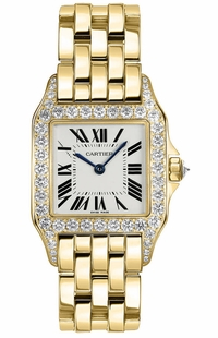 Cartier Santos Demoiselle Solid 18k Yellow Gold Women's Watch WF9002Y7