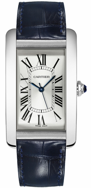 Cartier Tank Americaine Silver Dial Men's Casual Watch WSTA0018