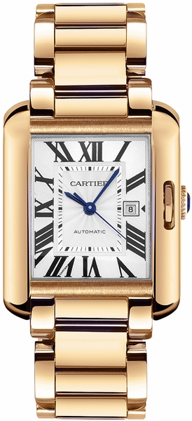 Cartier Tank Anglaise Solid 18k Rose Gold Women's Luxury Watch W5310003