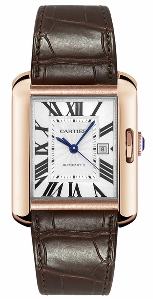 Cartier Tank Anglaise Men's Watch Solid Rose Gold W5310004