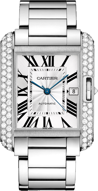 Cartier Tank Anglaise WT100010 Rose Gold Women's Watches