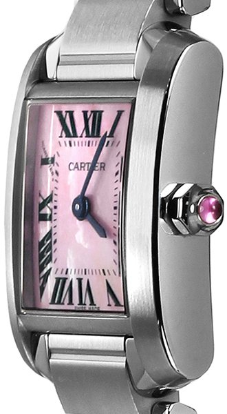 New Cartier Tank Francaise Pink Mother Of Pearl Watch