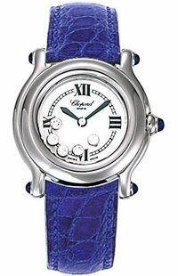 Chopard Happy Sport Ladies White Dial Watch 278245-3007