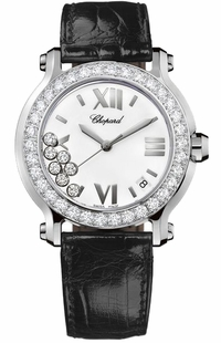 Chopard Happy Sport Round Quartz White Dial Women's Watch 278476-2001