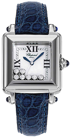 Chopard Happy Sport Square Floating Diamond Watch 278325-3006