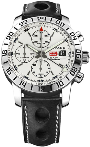 Chopard Mille Miglia White Dial Chronograph Men's Watch 168992-3003