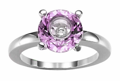 Pink Gemstone & Diamond Chopard Ring 826232