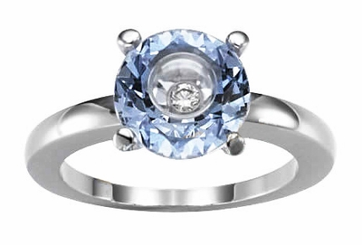 Blue Gemstore & Diamond Chopard Ring 826232
