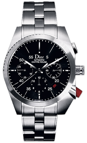 Cd084610m001 Christian Dior Chiffre Rouge Black Dial Chronograph Watch
