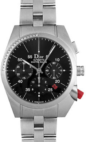 Cd084612m001 Christian Dior Chiffre Rouge Black Dial Chronograpoh