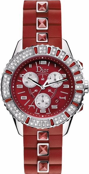 Christian Dior Christal Red Dial & Diamond Women's Luxury Watch CD11431BR001