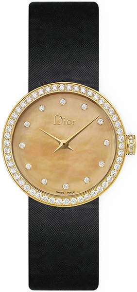 Christian Dior La D De Dior Gold Pearl & Diamond Dial Women's Watch CD047150A001