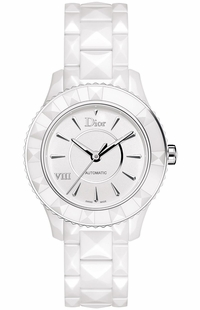 Christian Dior VIII White Ceramic Luxury Women's Watch CD1245E3C001