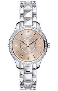Christian Dior VIII Montaigne Pink Dial Diamond Women's Watch CD152510M002