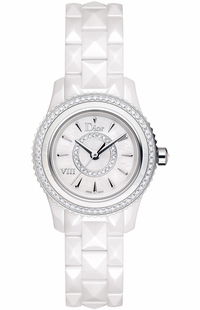Christian Dior VIII White Pearl & Diamond Dial Women's Watch CD1221E6C001