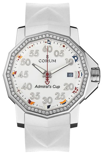 Corum Admiral's Cup 40 White Dial Men's Watch 082.961.47/F379 AA12