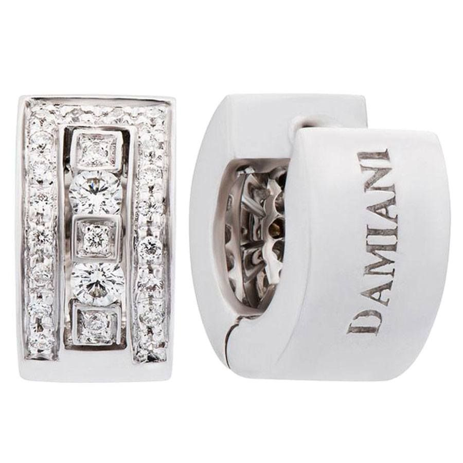 Damiani Earrings 25 Carat Diamonds On 18k White Gold 20031644