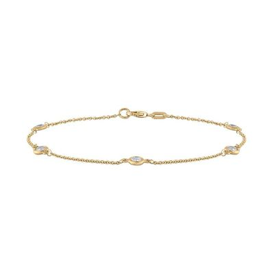 Diamond by the Yard Bracelet, 0.32 Carat on 14k Yellow Gold