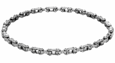 Diamond Bracelet, .57 Carat Diamonds on 14K White Gold