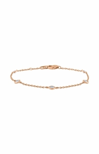 Diamond by the Yard Bracelet, 0.32 Carat on 14k Rose Gold