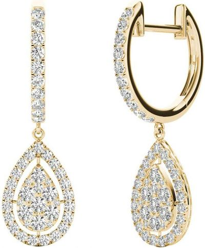 Diamond Earrings, 1.0 Carat Diamonds on 18k Yellow Gold E20239Y