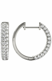 Diamond Earrings, 1.04 Carat Round Diamonds on 18k White Gold E21975W