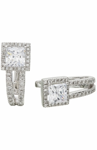 Diamond Earrings,  .23 Carat Diamonds on 14K White Gold
