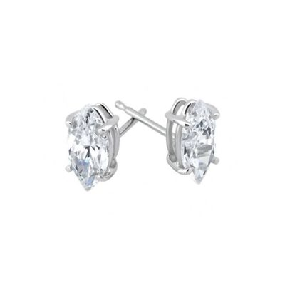 Marquise Diamond Stud Earrings,  0.25 Carat on 14k White Gold