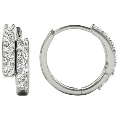 Diamond Earrings, .36 Carat Round Diamonds on 18k White Gold E21972W