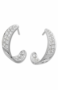 Diamond Earrings,  .77 Carat Diamonds on 14K White Gold