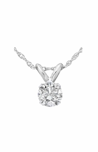Diamond Pendant, 0.25 Carat on 14k White Gold