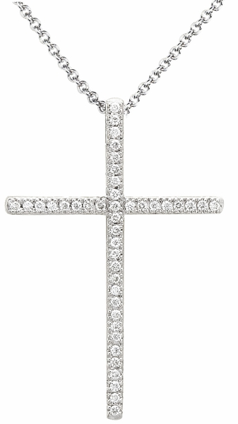 Diamond Pendant, .13 Carat Diamonds on 14K White Gold