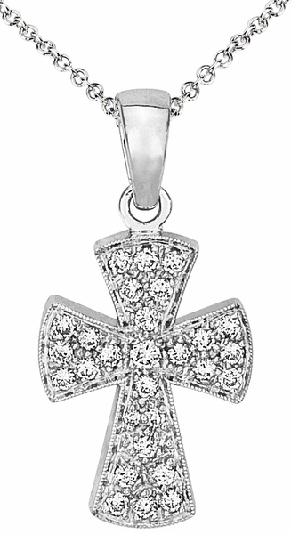 Diamond Pendant, .24 Carat Diamonds on 14k White Gold PWG153