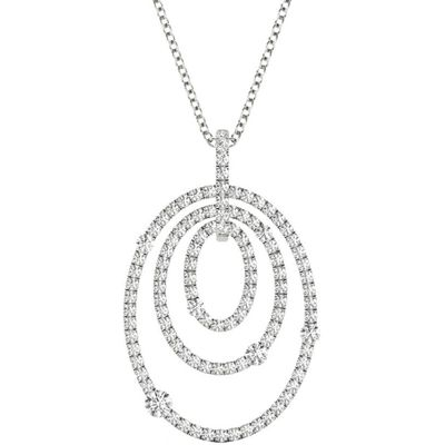 Diamond Pendant, .86 Carat on 18k White Gold P21963W