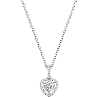 Diamond Pendant, .30 Carat on 18k White Gold Women's Necklace P21954W