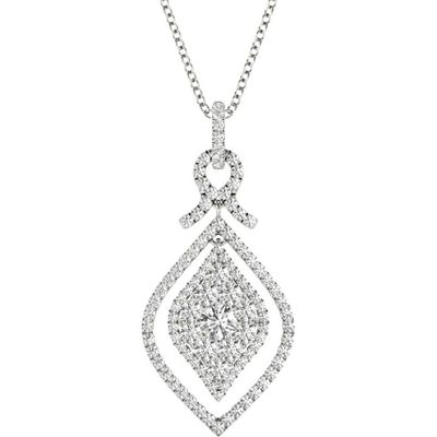 Diamond Pendant, .95 Carat on 18k White Gold P21955W