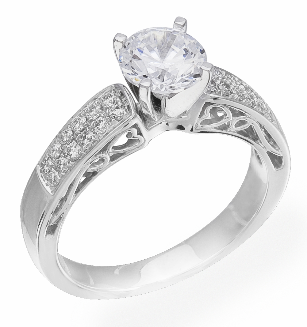 Diamond Ring 24 Carat Diamonds On 14k White Gold Image 0