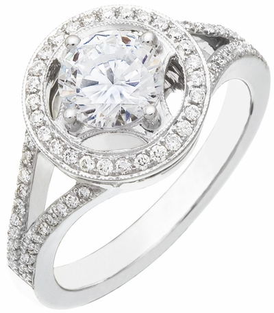 Diamond Ring, .28 Carat Diamonds on 14K White Gold
