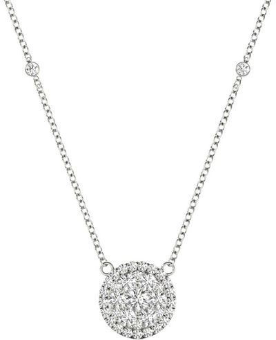 Diamond Round Pendant, .56 Carat on 18k White Gold P20242W