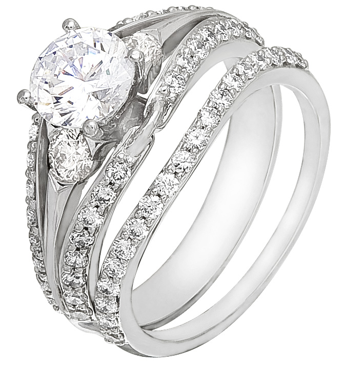 Wedding Ring Set On Sale! White Gold With Diamonds