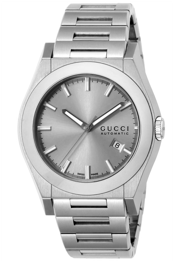 4ca13489ee7 YA115202 Gucci 115 Pantheon Mens Silver Watch