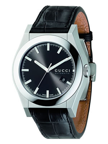 3eef599a815 YA115203 Gucci 115 Pantheon XL Automatic Mens Watch Black Strap